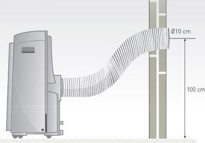 Tubo extensible para aire acondicionado portatil