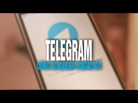 COMO BLOQUEAR O ELIMINAR CONTACTO EN TELEGRAM