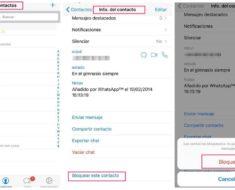 Como bloquear contactos o grupos en Whatsapp