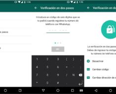 Activar verificacion de dos pasos WhatsApp