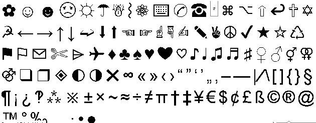 Simbolos y caracteres especiales en el teclado