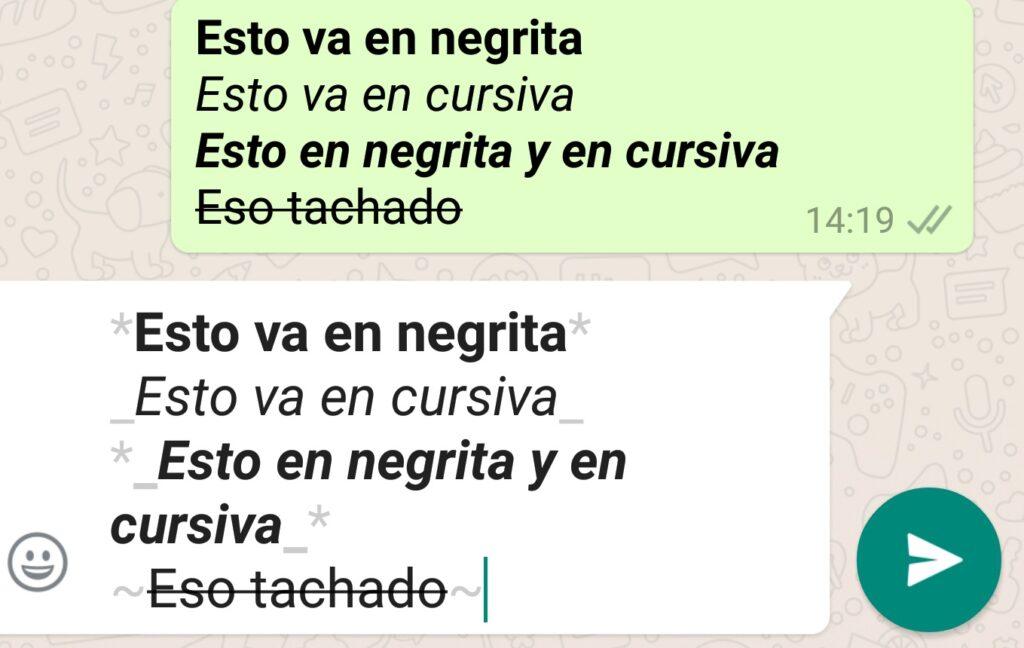 Tachado WhatsApp
