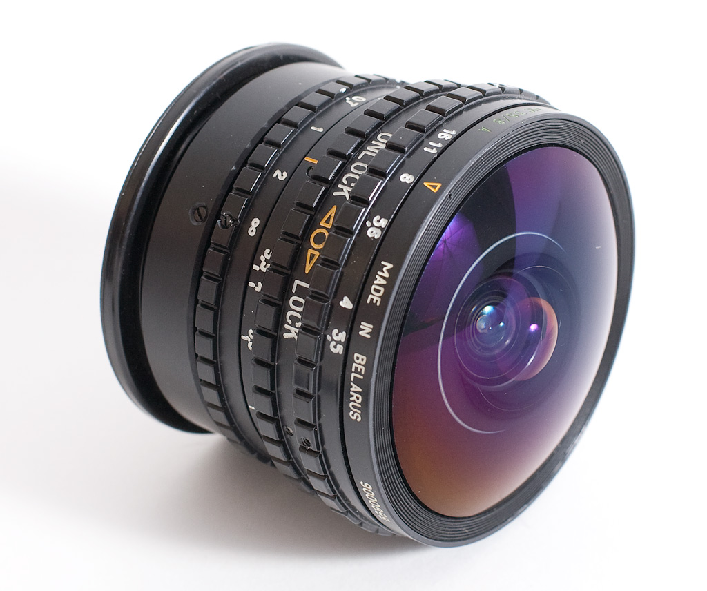 lente fotográfico Ojo de pez